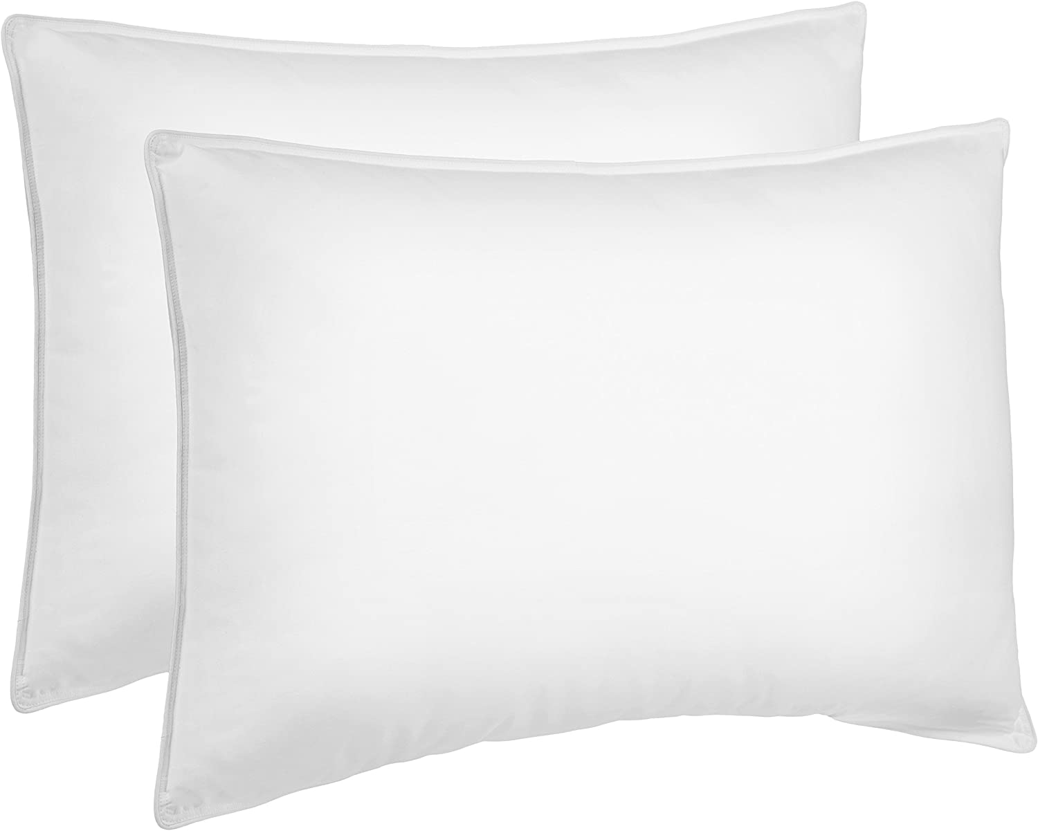 Amazon Basics Down Alternative Bed Pillows for Back Sleepers