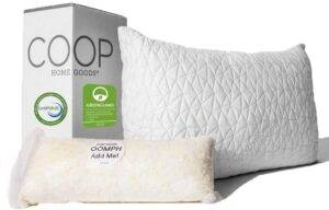 Coop Home Goods - Premium Adjustable Hypoallergenic Cross-Cut Memory Foam Fill Loft Pillow for Stomach Sleepers