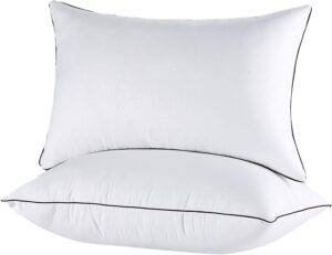 Queen Pillows Hypoallergenic Bed Pillow - Alternative Sleeping Pillows for Stomach Sleepers