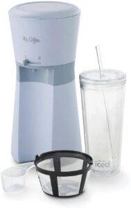 Mr Coffee Iced Coffee Maker with Reusable Tumbler and Coffee Filter