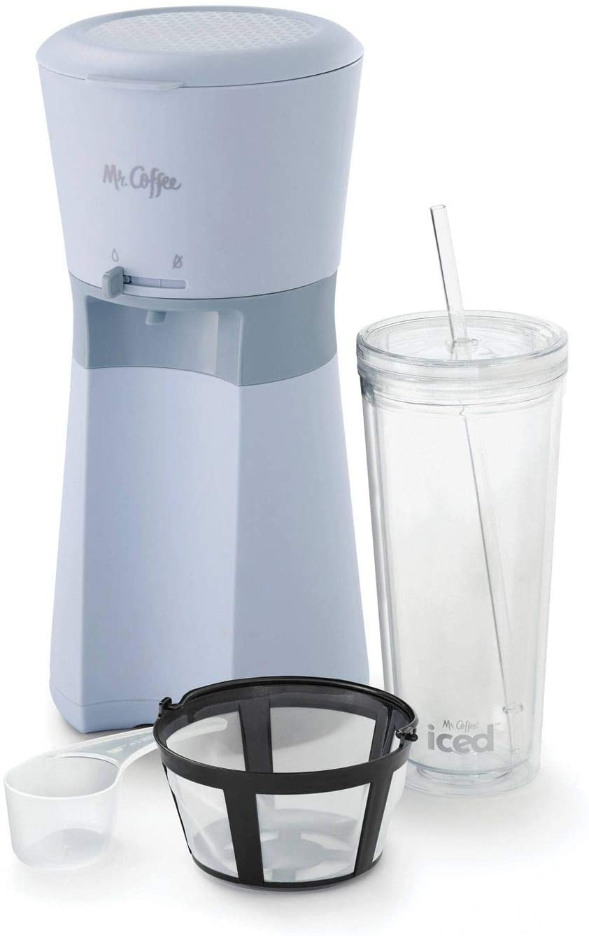 Mr Coffee Iced Coffee Maker with Reusable Tumbler & Filter