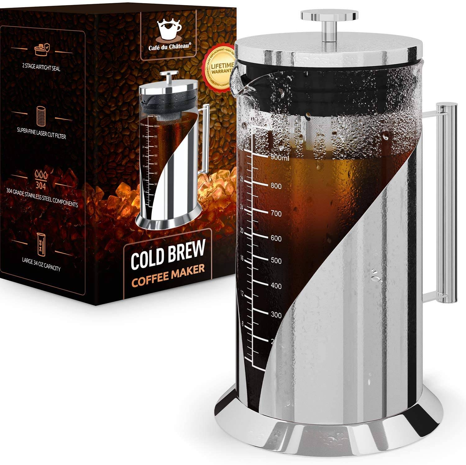 Cafe du Chateau Cold Brew Coffee Maker