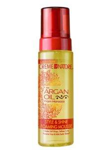 Creme of Nature Argan Oil Style and Shine Foaming Mousse for Braids