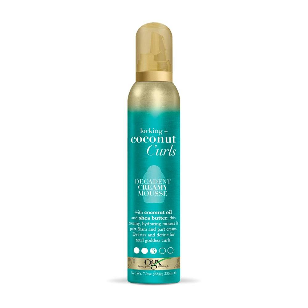 OGX Locking + Curls Decadent Mousse for Curly & Wavy Hair