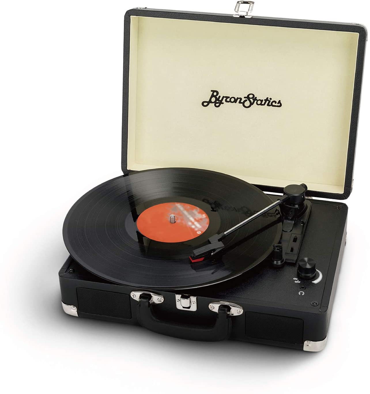 Byron Statics Vinyl Record Player with 2 Speakers