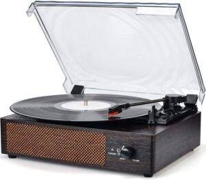 Wockoder Record Player - Wireless Turntable