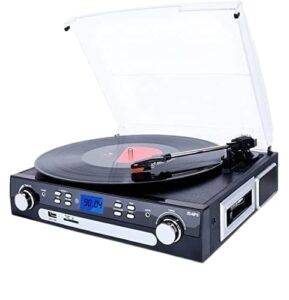 DIGITNOW Bluetooth Record Player - Turntable with Stereo Speakers - Best Wireless Turntable