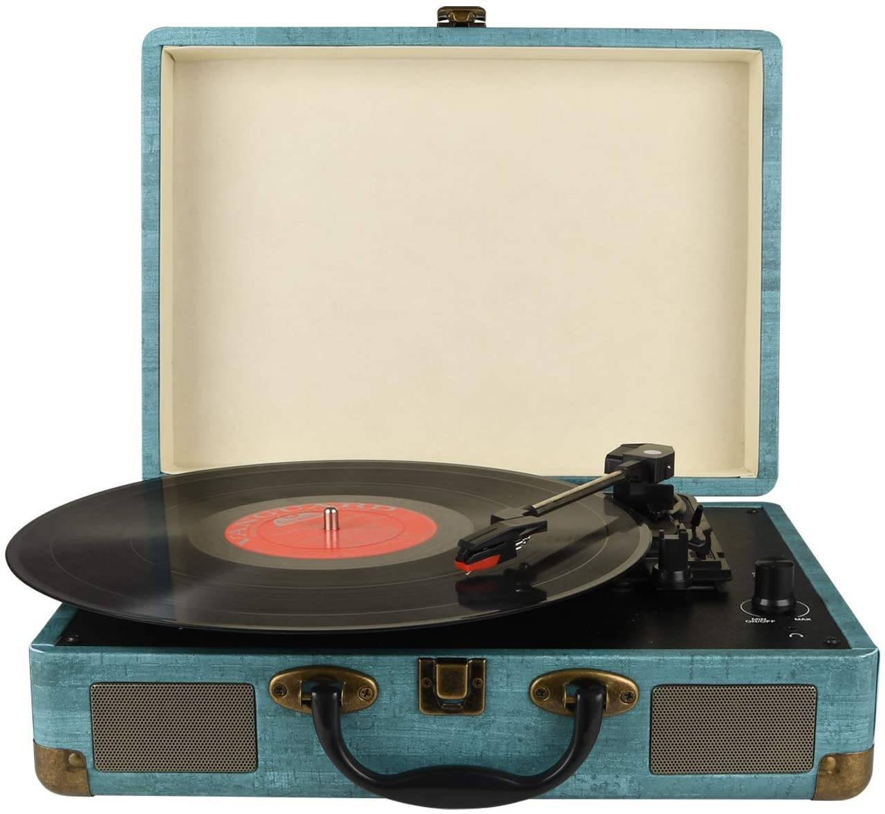 Kedok Vintage Bluetooth Record Player - Stereo Speaker