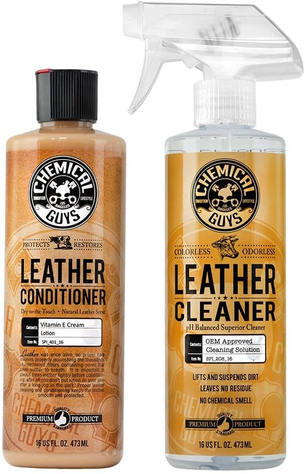 Chemical Guys Leather Conditioner and Leather Kit