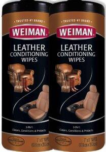 Weiman Leather Conditioning Wipes for Purse & Bags - Leather Purse Cleaners