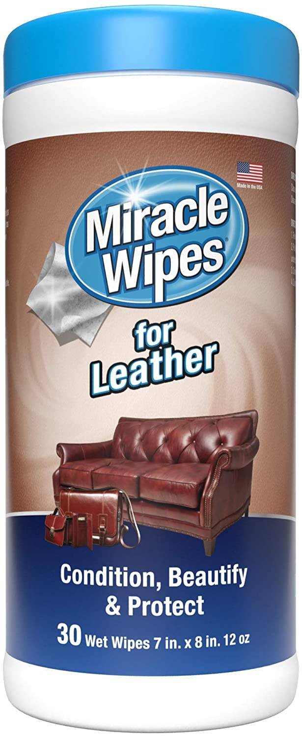 MiracleWipes for Leather Cleaning & Conditioning