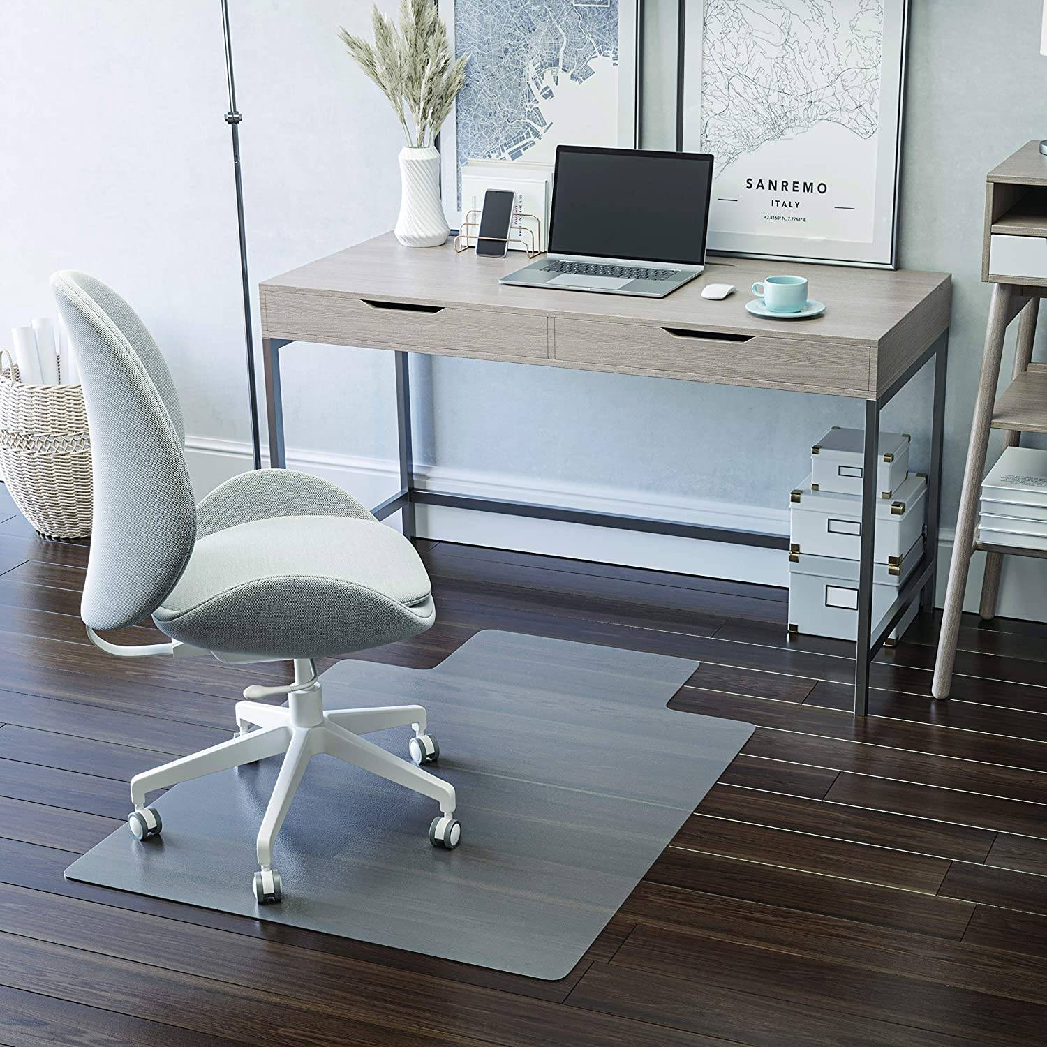 Deflecto EconoMat Chair Mat with Lip for Hard Floors